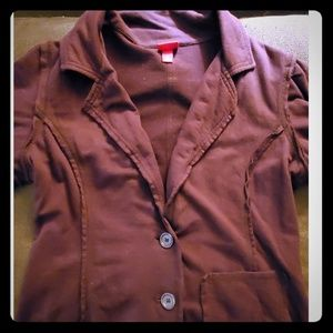 Mossimo Short Sleeve Sweatshirt Blazer